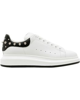 45mm Leather Platform Sneakers W/ Studs