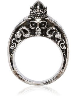 Skulls & Snakes Engraved Ring