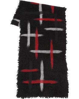 Printed Wool Blend Scarf