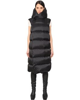 Hooded & Quilted Long Vest
