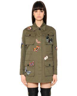 Butterfly Patches Gabardine Field Jacket
