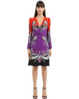 Gradient Printed Cotton Blend Dress