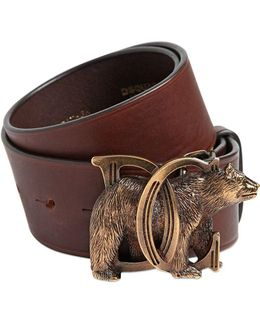 40mm Dd Bear Buckle Leather Belt