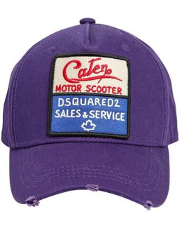 Caten Patch Cotton Baseball Hat
