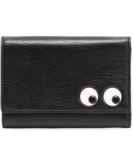 Small Eyes Leather Wallet