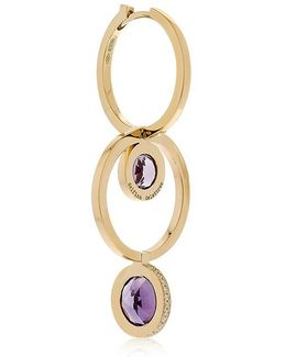 Seal Double Hoop Gold Mono Earring