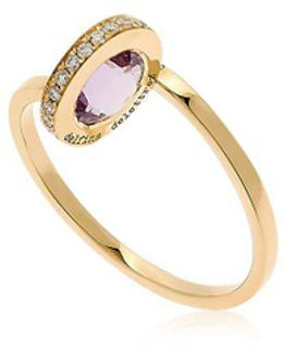 Seal Gold Amethyst Ring
