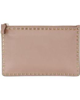 Medium Rockstud Leather Pouch