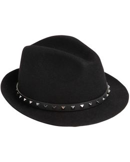 Rockstud Lapin Fur Felt Hat