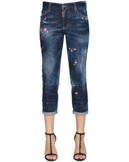 Boyfriend Embroidered Denim Jeans
