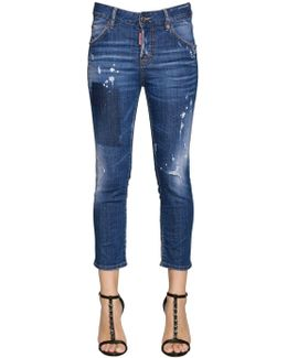 Cool Girl Cropped Denim Jeans