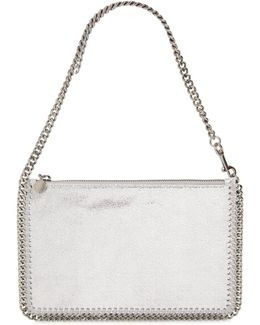 Falabella Shiny Faux Leather Pouch