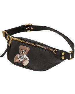 Teddy Bear Faux Leather Belt Pack
