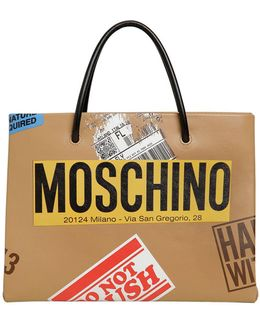Cardboard Box Leather Tote Bag