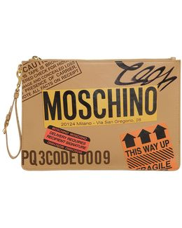 Cardboard Box Leather Clutch