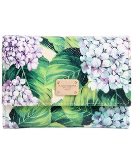 Hydrangea Printed Leather Wallet
