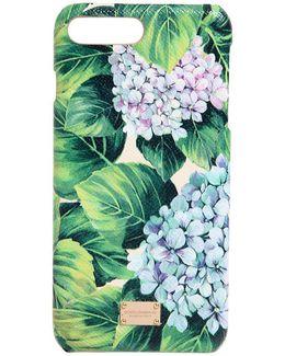 Hydrangea Leather Iphone 7 Plus Case