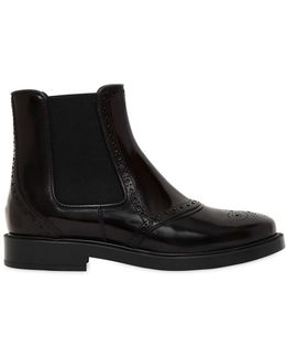 20mm Brogue Leather Chelsea Boots
