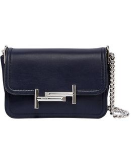 Mini Double T Brushed Leather Bag