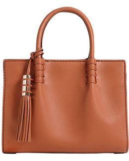 Small Lady Mock Brushed Leather Bag