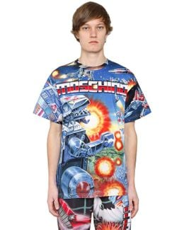 Transformer Print Cotton Jersey T-shirt