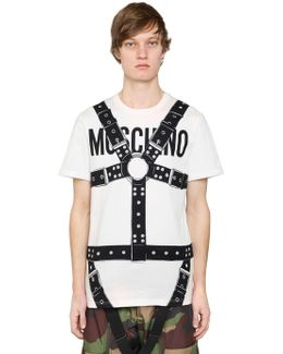 Bondage & Logo Cotton Jersey T-shirt
