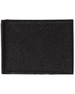 Pebbled Leather Classic Wallet W/ Flap