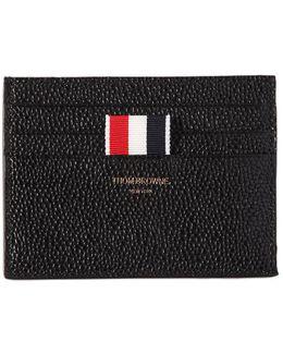 Center Pocket Pebble Leather Card Holder