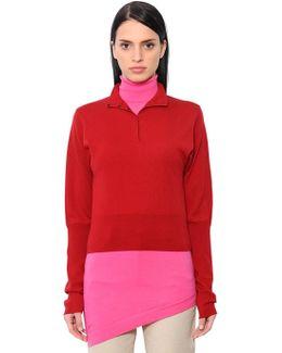 Double Layer Merino Wool Knit Shirt