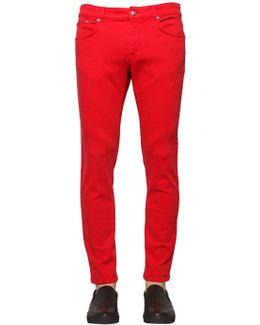 17cm Slim Fit Cotton Denim Jeans