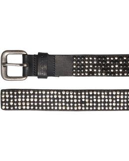 50mm Studded Leather Belt