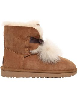 Gita Shearling Boots W/ Pompoms