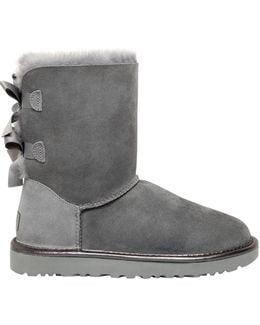 Bailey Bow Metallic Shearling Boots