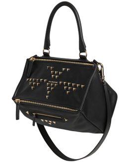 Medium Pandora Triangle Stud Leather Bag