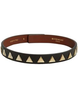 Triangle Stud Leather Choker