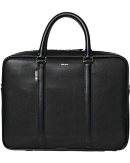 City Embossed Leather Briefcase