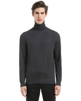 Extrafine Merino Wool Knit Turtle Neck