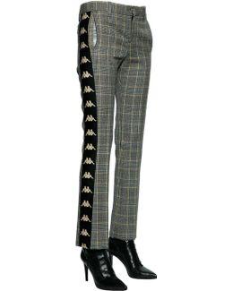 Kappa Wool Prince Of Wales Pants