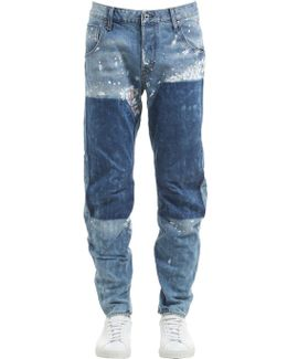 Arc 3d Tapered Washed Destroyed Jeans