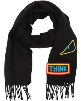 Words & Monster Wool Knit Scarf