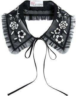Embroidered Organza Collar