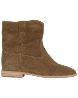 70mm Crisi Suede Wedges Boots