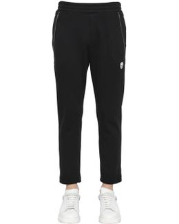 Zip Details Cotton Sweatpants