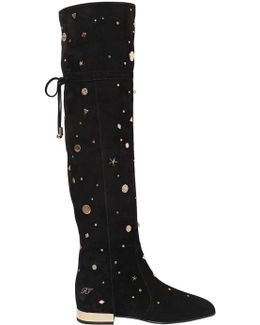 50mm Astre Studs Suede Boots