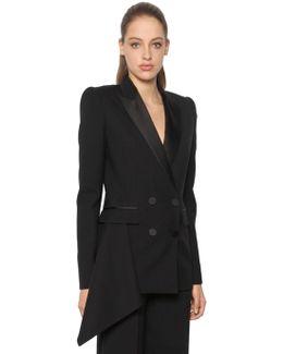 Light Wool & Silk Blend Tuxedo Jacket