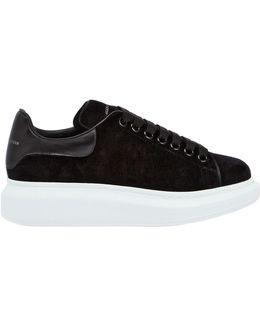 40mm Velvet & Leather Sneakers