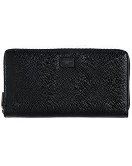 Dauphine Leather Zip Around Wallet