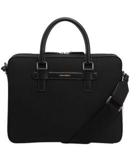 Nylon & Leather Messenger Bag