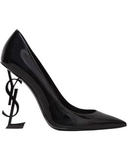 110mm Opyum Logo Patent Leather Pumps