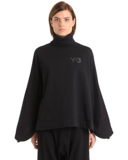 High Collar Cotton Sweatshirt
